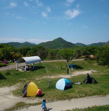 テントと公園