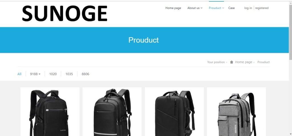 SUNOGEホームページ