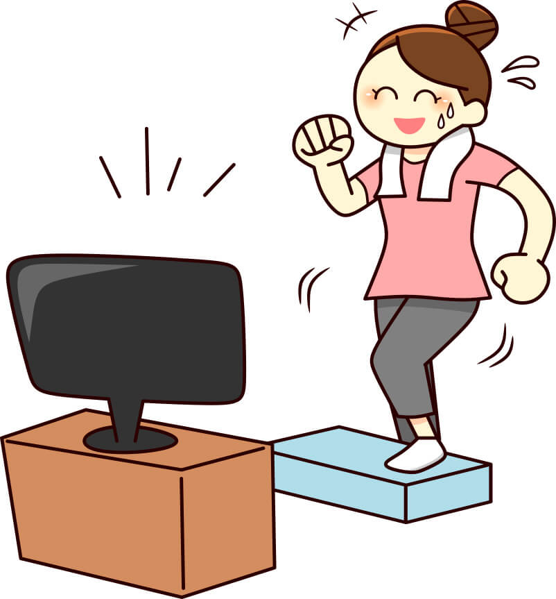 踏み台昇降運動女性