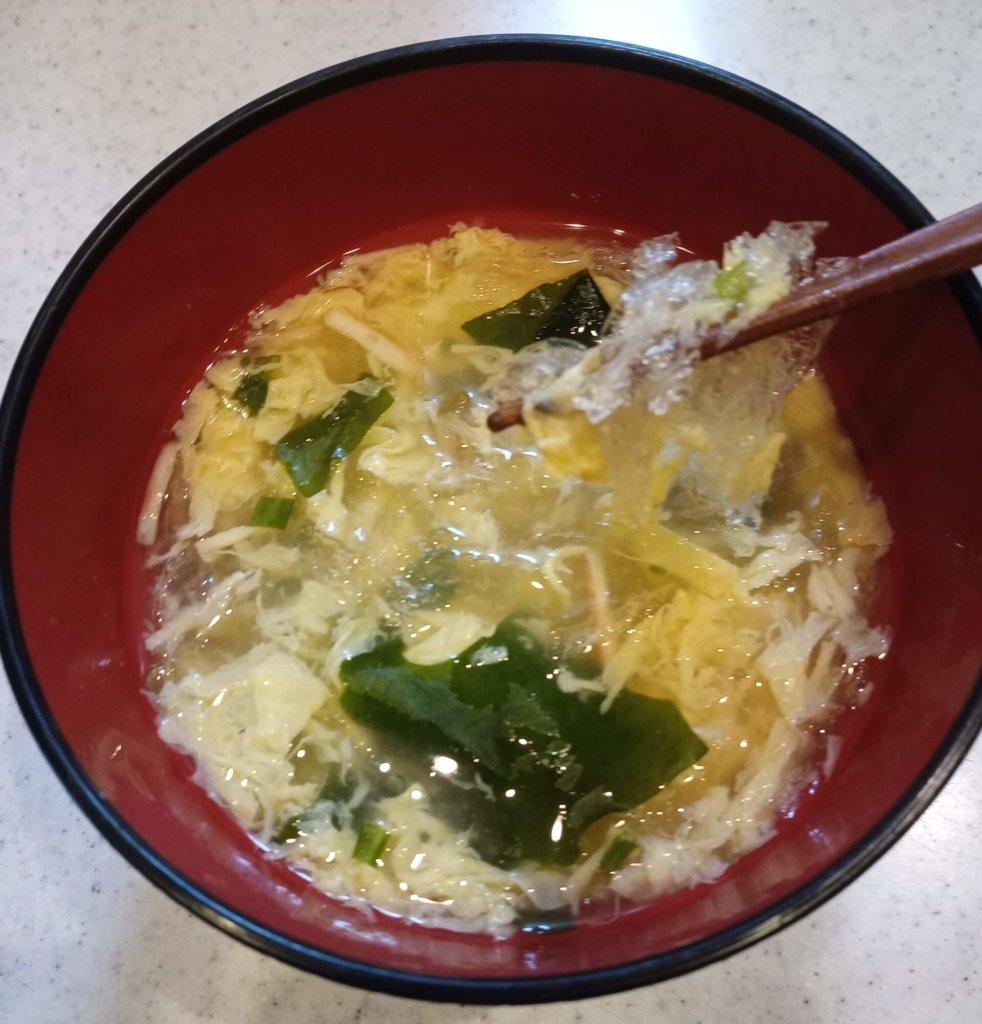 卵スープと糸寒天
