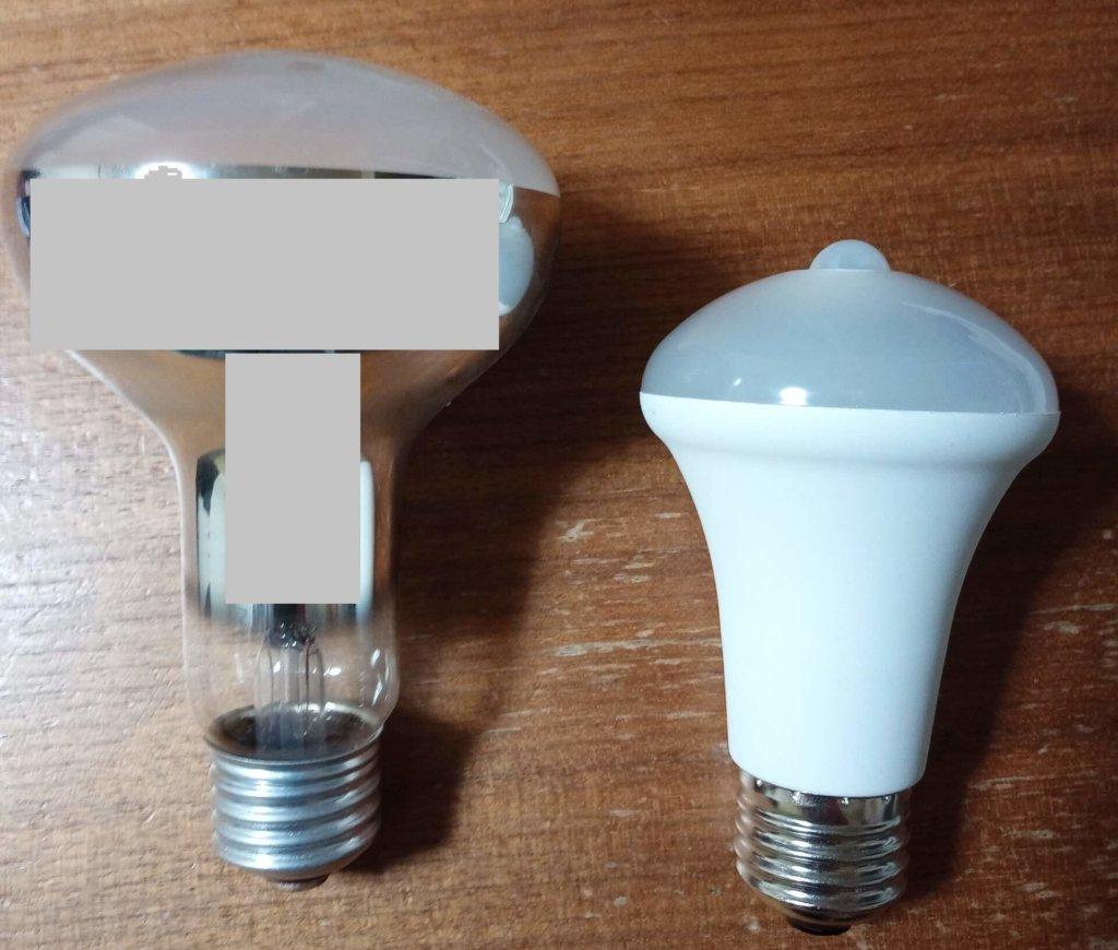 レフランプとLED電球